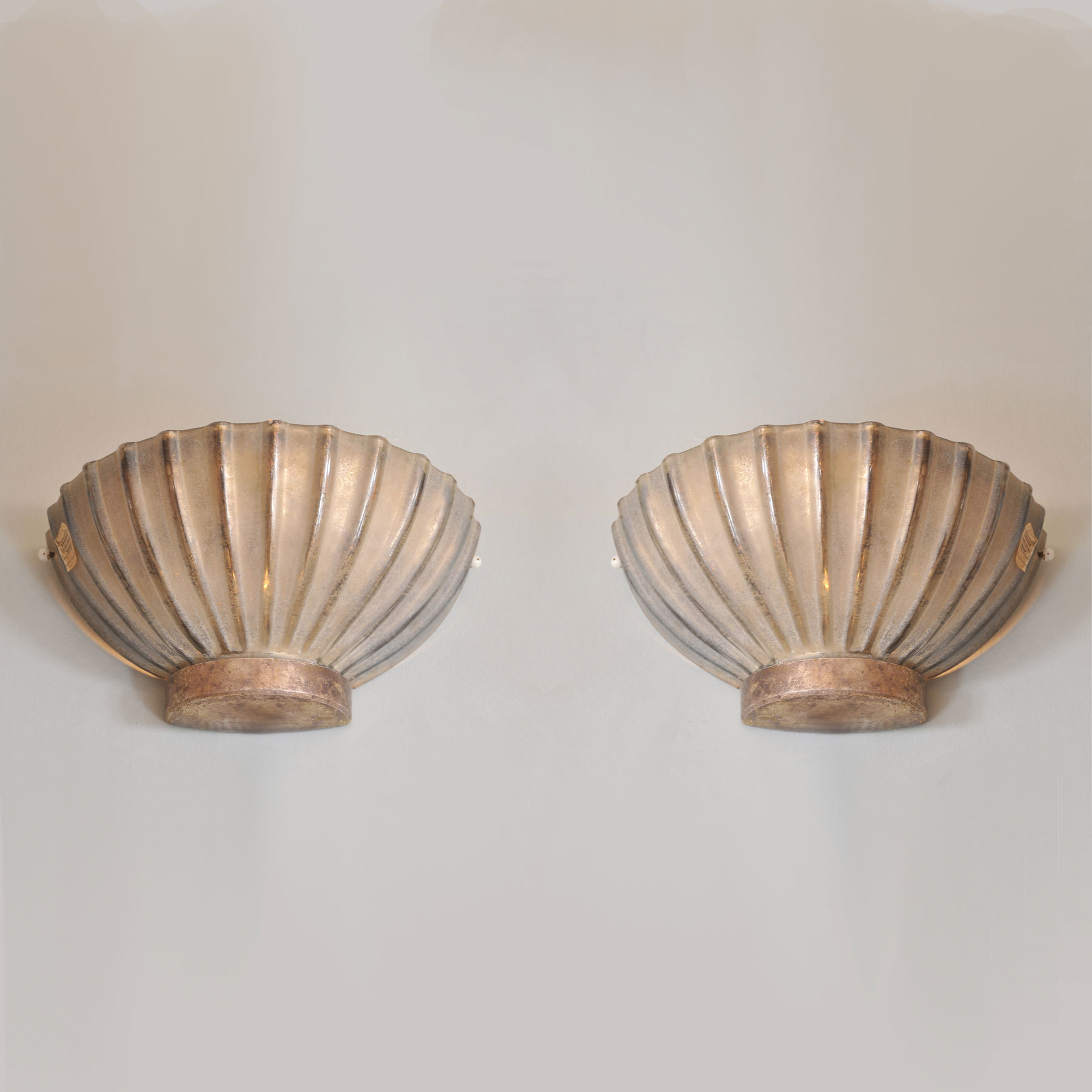 Italian 1960s scallop shell wall lights by seguso vetri valerie wade italian 1960s scallop shell wall lights by seguso vetri darte mozeypictures