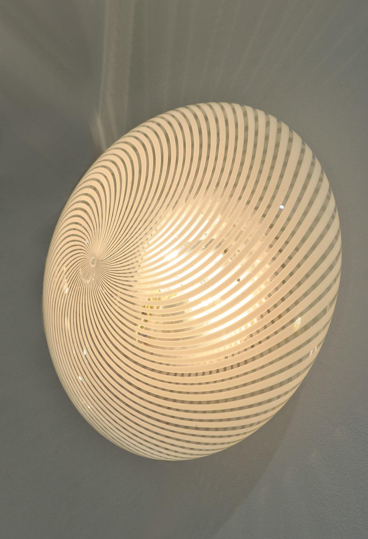 Pair Swirl Circular Wall Lights 03