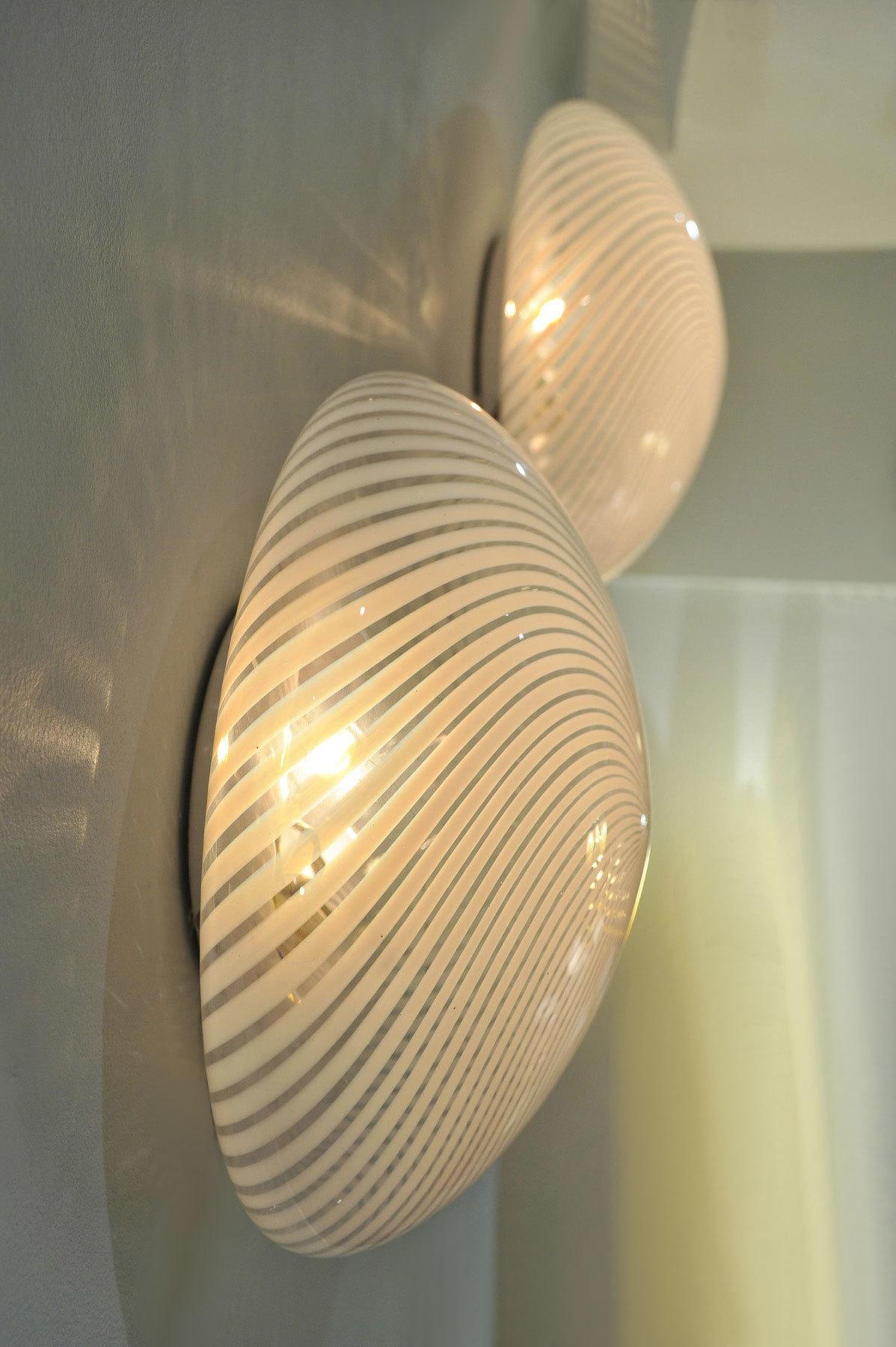 Pair Swirl Circular Wall Lights 05