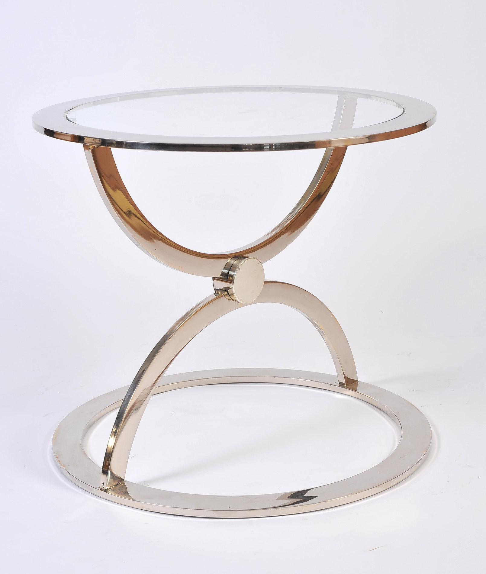 Pair Us Chrome Circular Sidetables 02