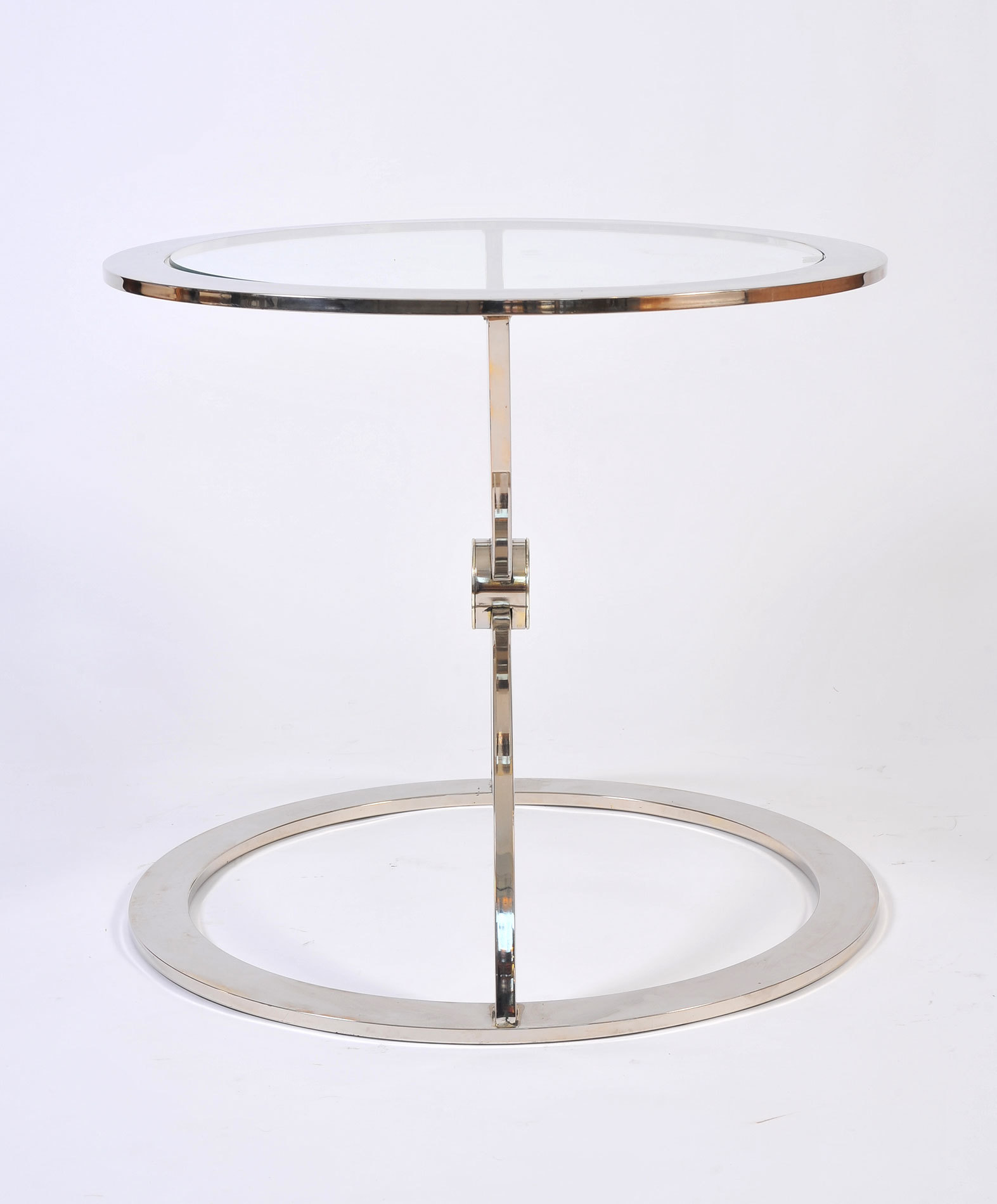 Pair Us Chrome Circular Sidetables 03