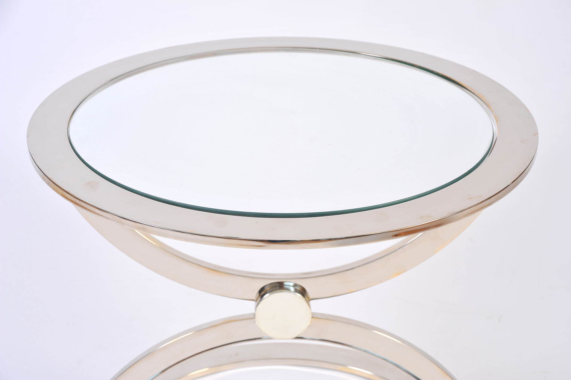 Pair Us Chrome Circular Sidetables 04