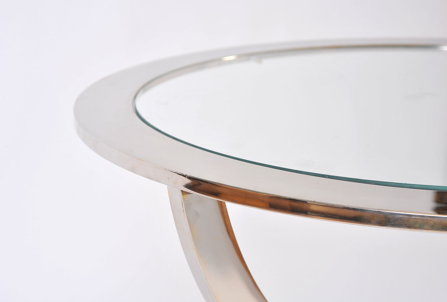 Pair Us Chrome Circular Sidetables 05