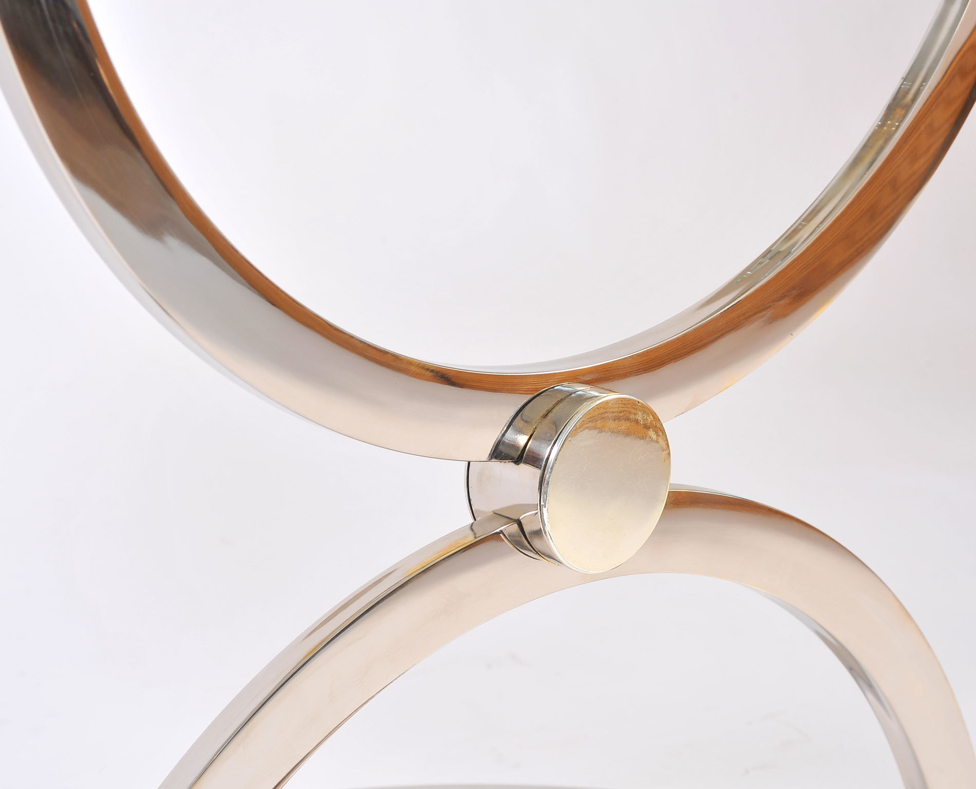 The image for Pair Us Chrome Circular Sidetables 07