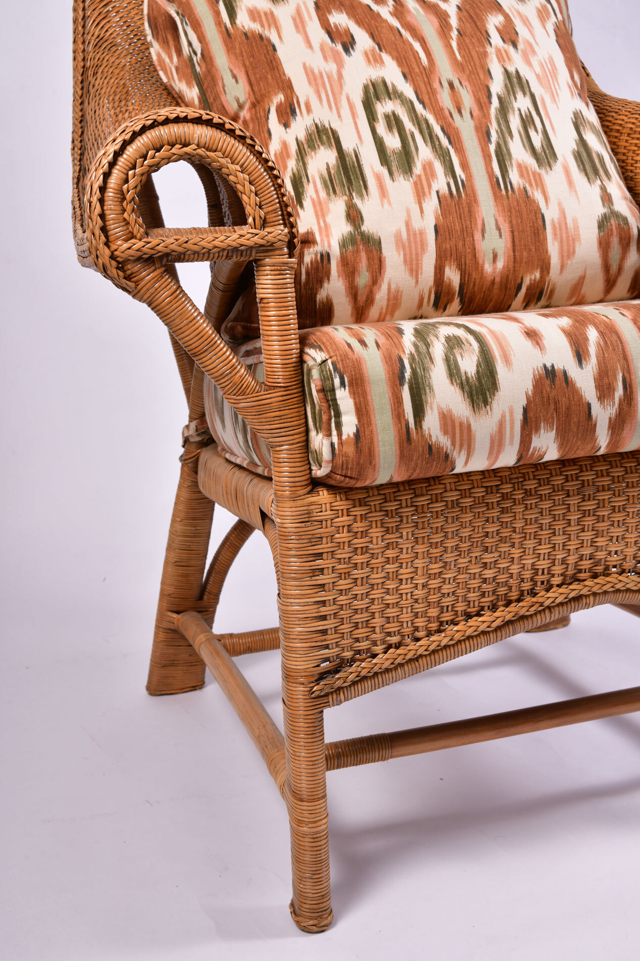 The image for Pair Us Wicker Armchairs 06