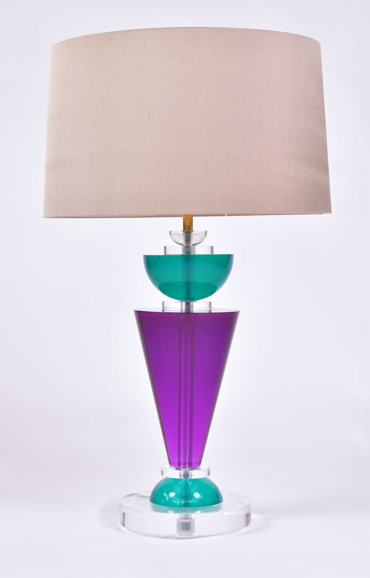 The image for Pair Van Teal Lamps 03