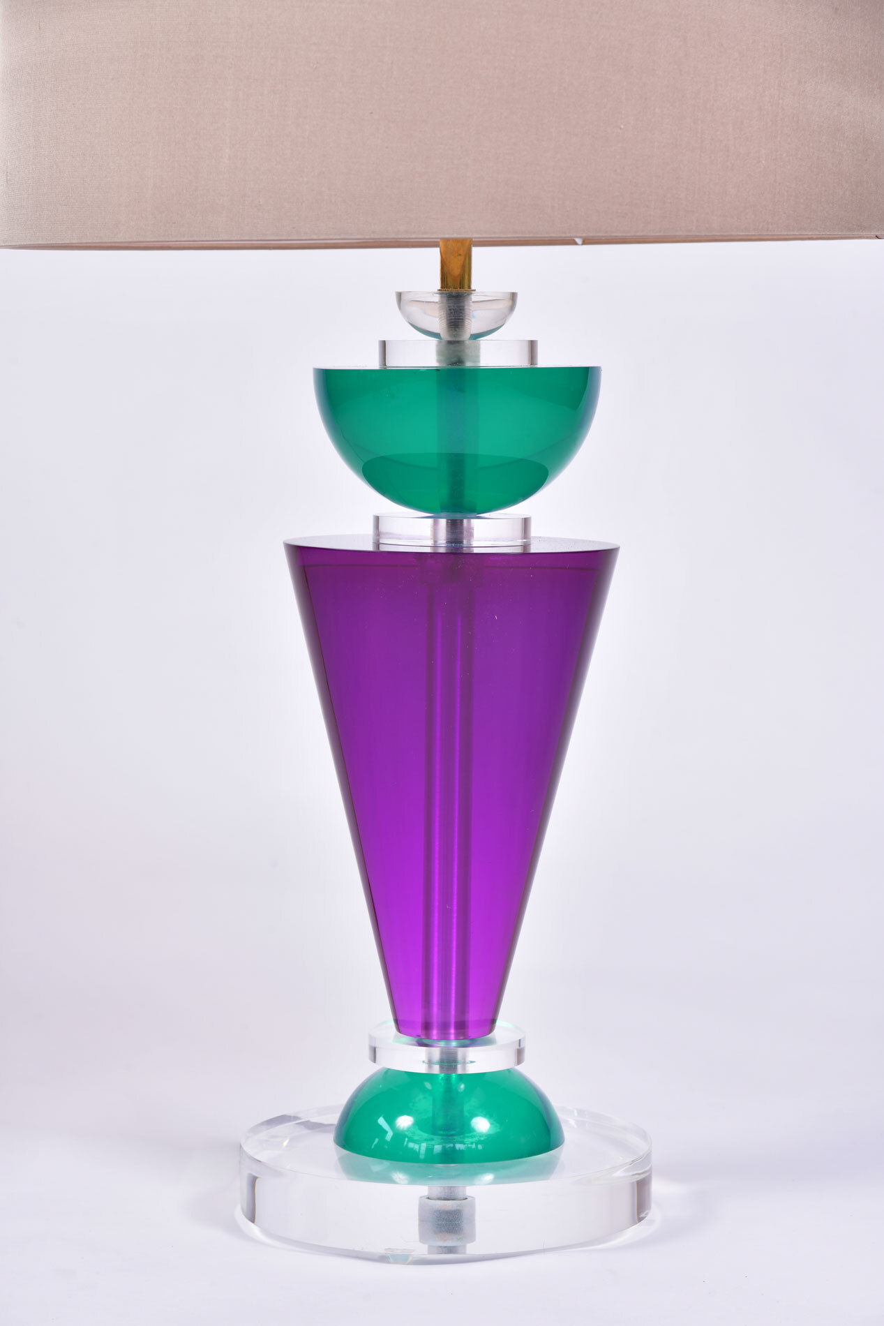 The image for Pair Van Teal Lamps 04
