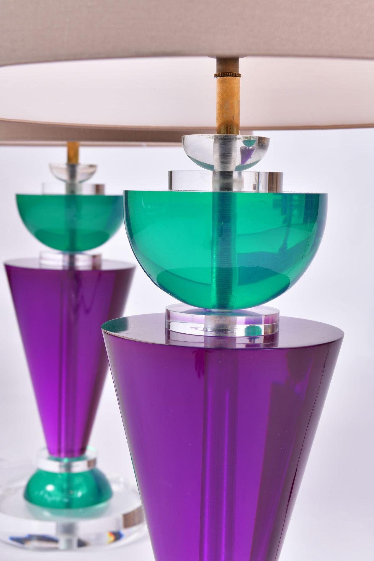 Pair Van Teal Lamps 05