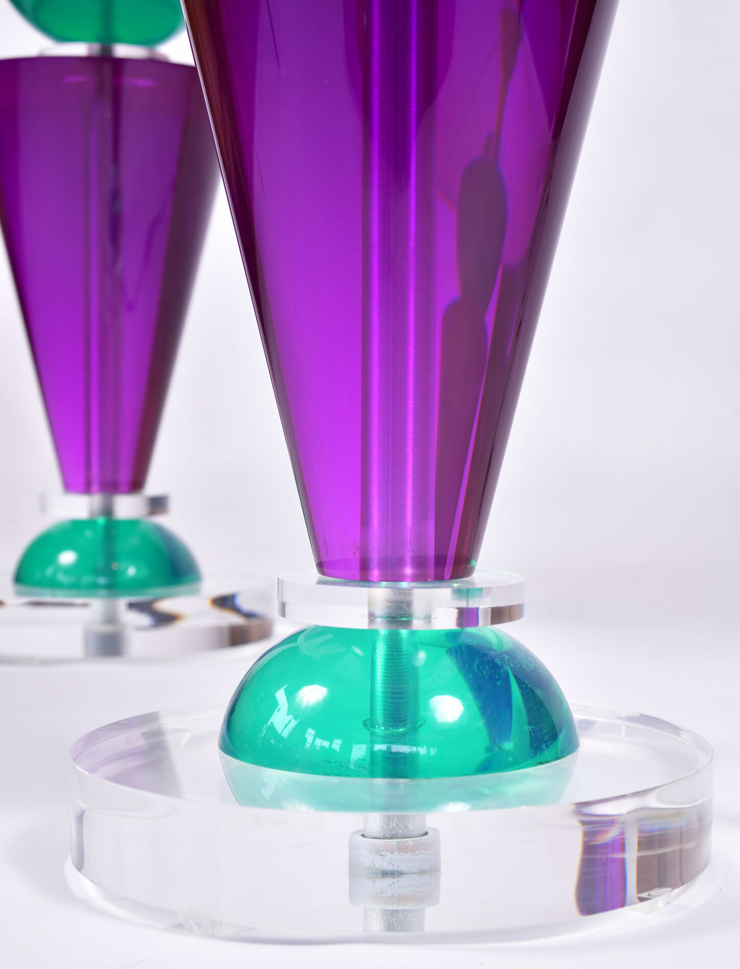 The image for Pair Van Teal Lamps 06