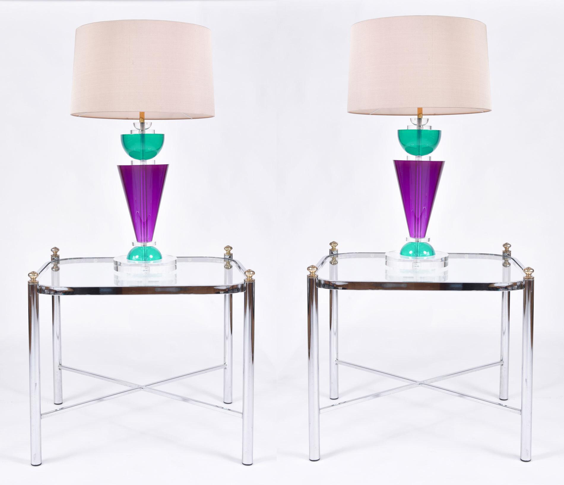 Pair Van Teal Lamps 08