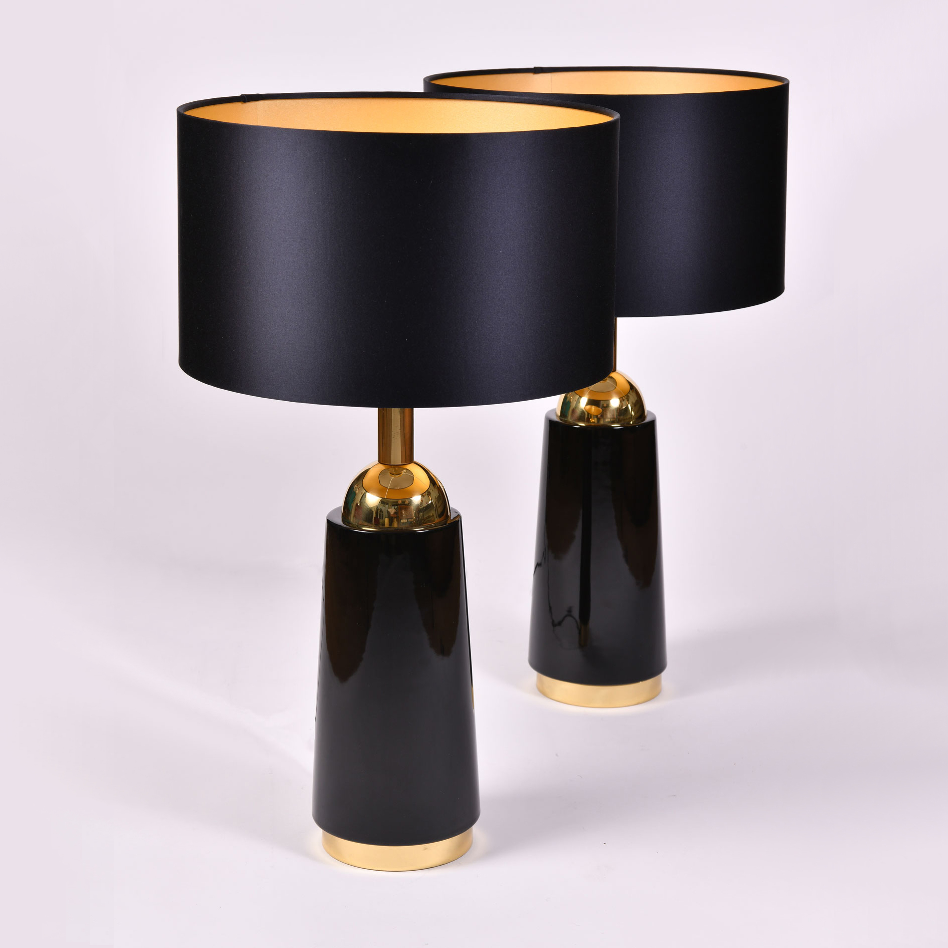 Pair Black Swedish Lamps 01