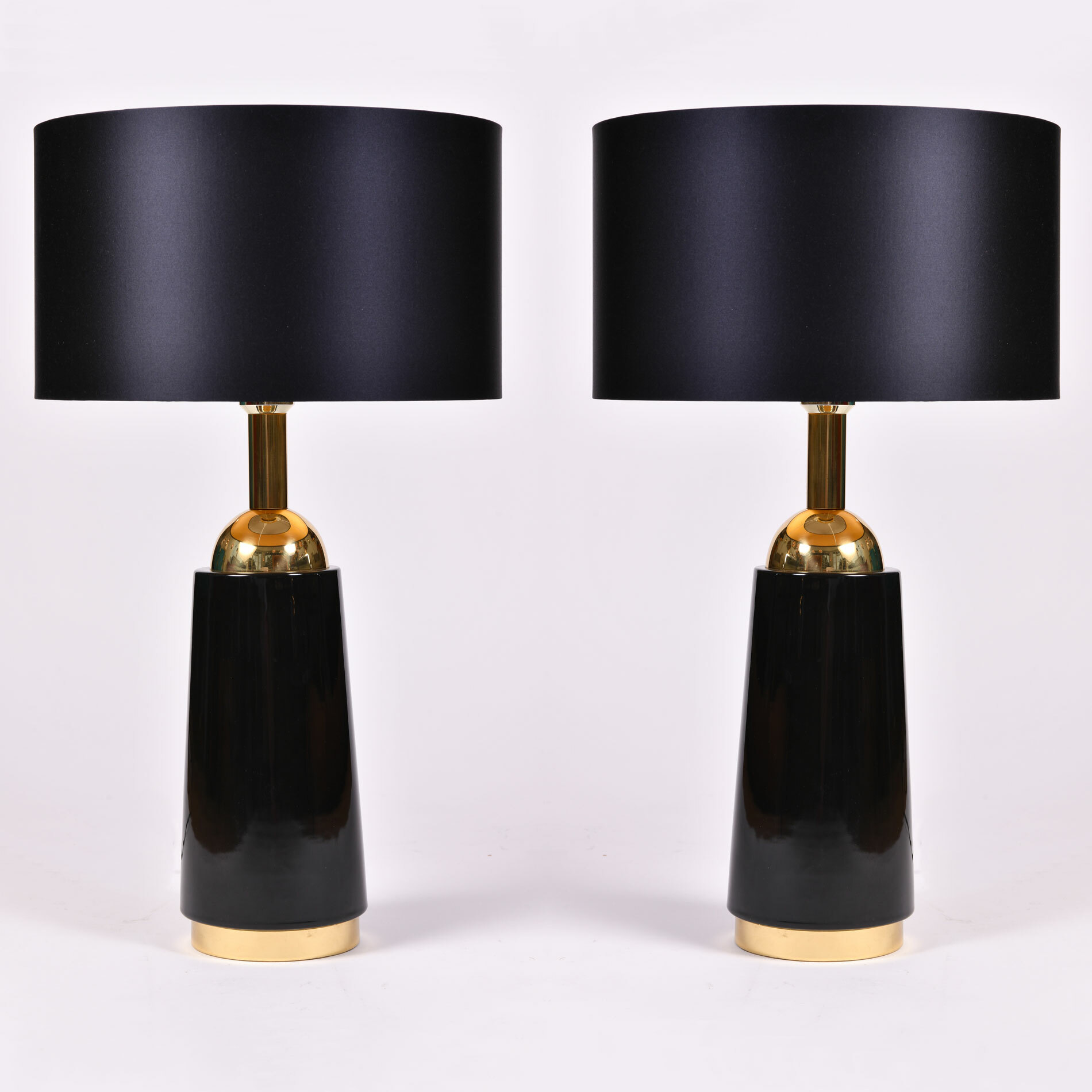 Pair Black Swedish Lamps 02