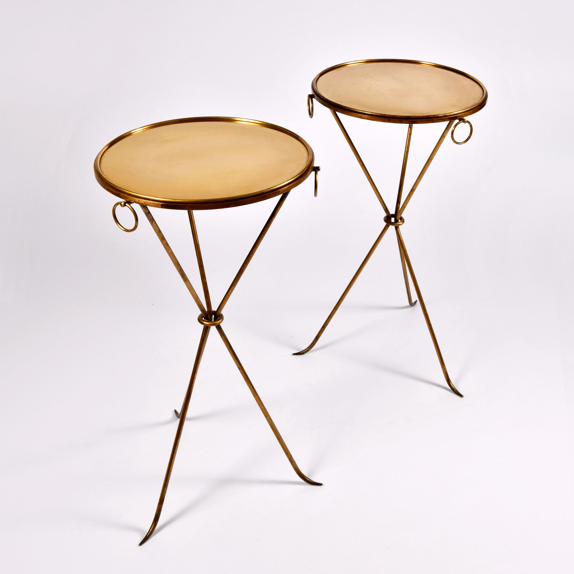 Pair Gueridons Bronze Tables 01