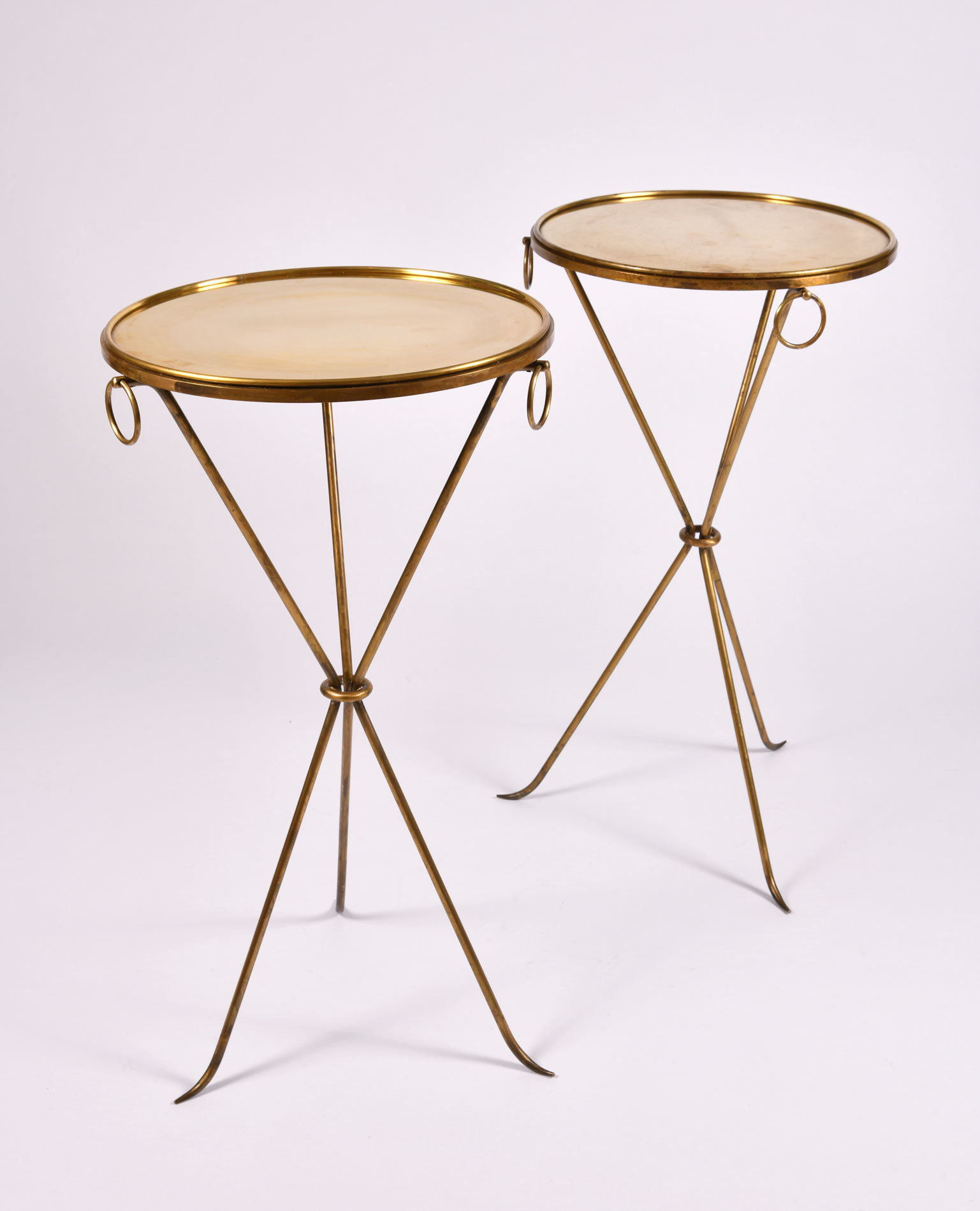 Pair Gueridons Bronze Tables 02