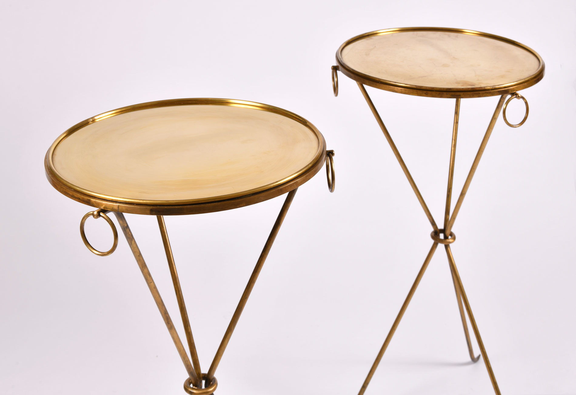 Pair Gueridons Bronze Tables 04