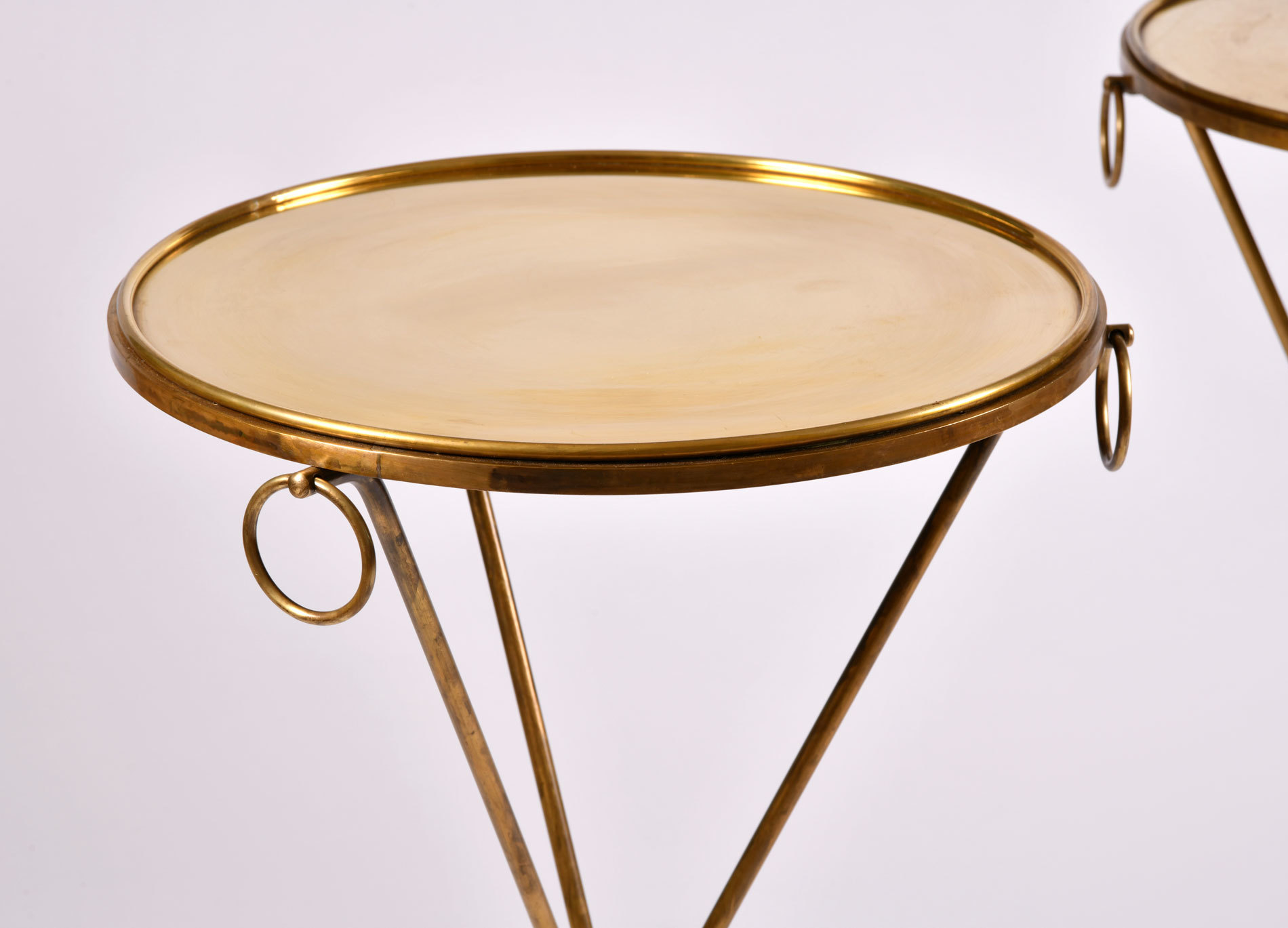 Pair Gueridons Bronze Tables 06