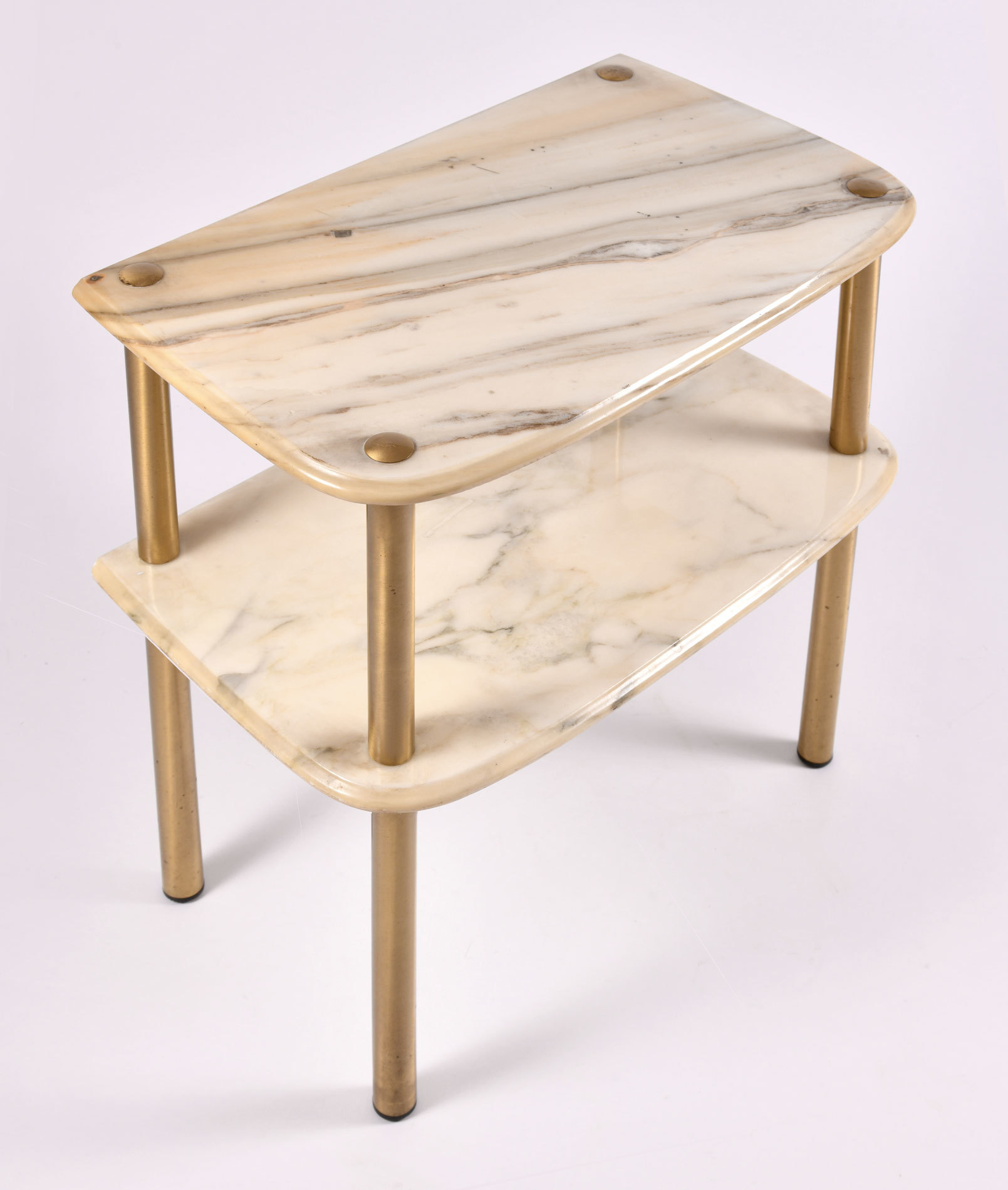 Pair Marble Topped Side Tables 03