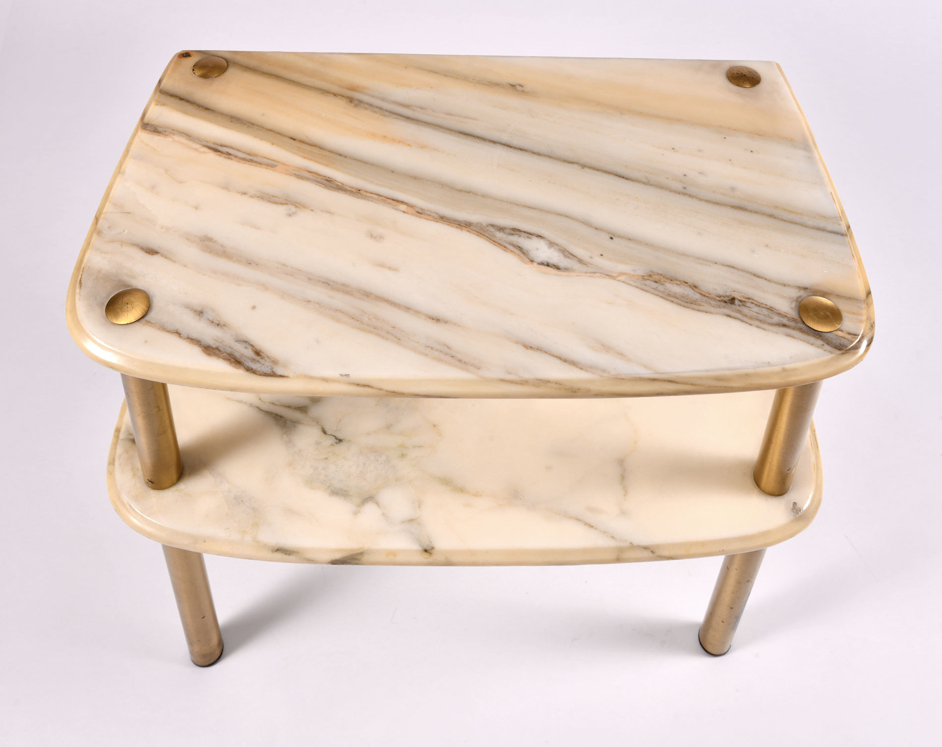 Pair Marble Topped Side Tables 06