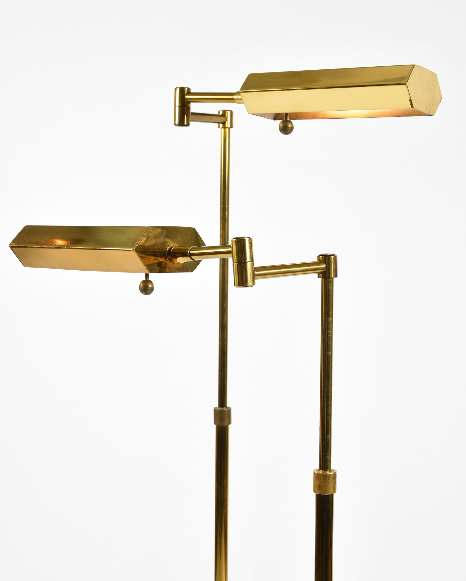 Pair Mid Century Brass Floor Lamps 02