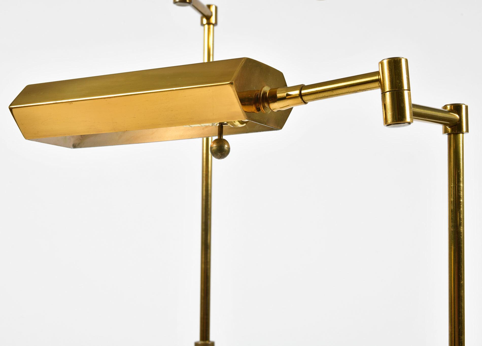 Pair Mid Century Brass Floor Lamps 03