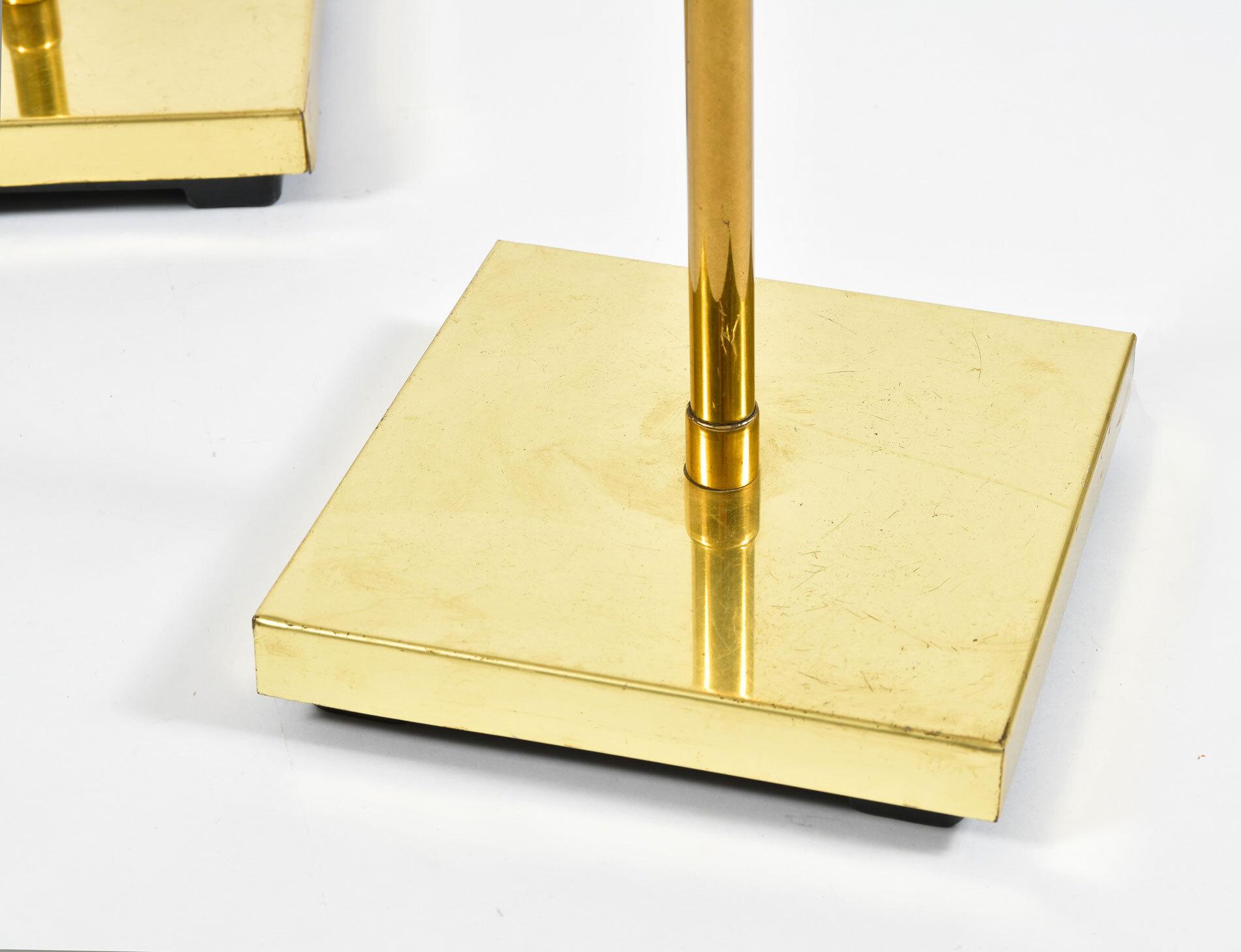 Pair Mid Century Brass Floor Lamps 04