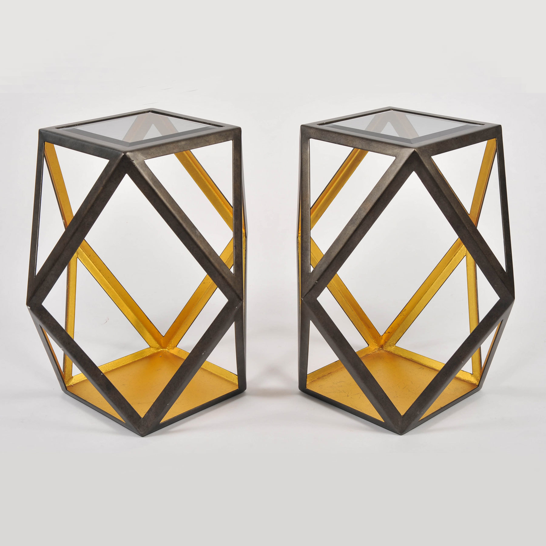 Pair Of Geometric Side Tables 02