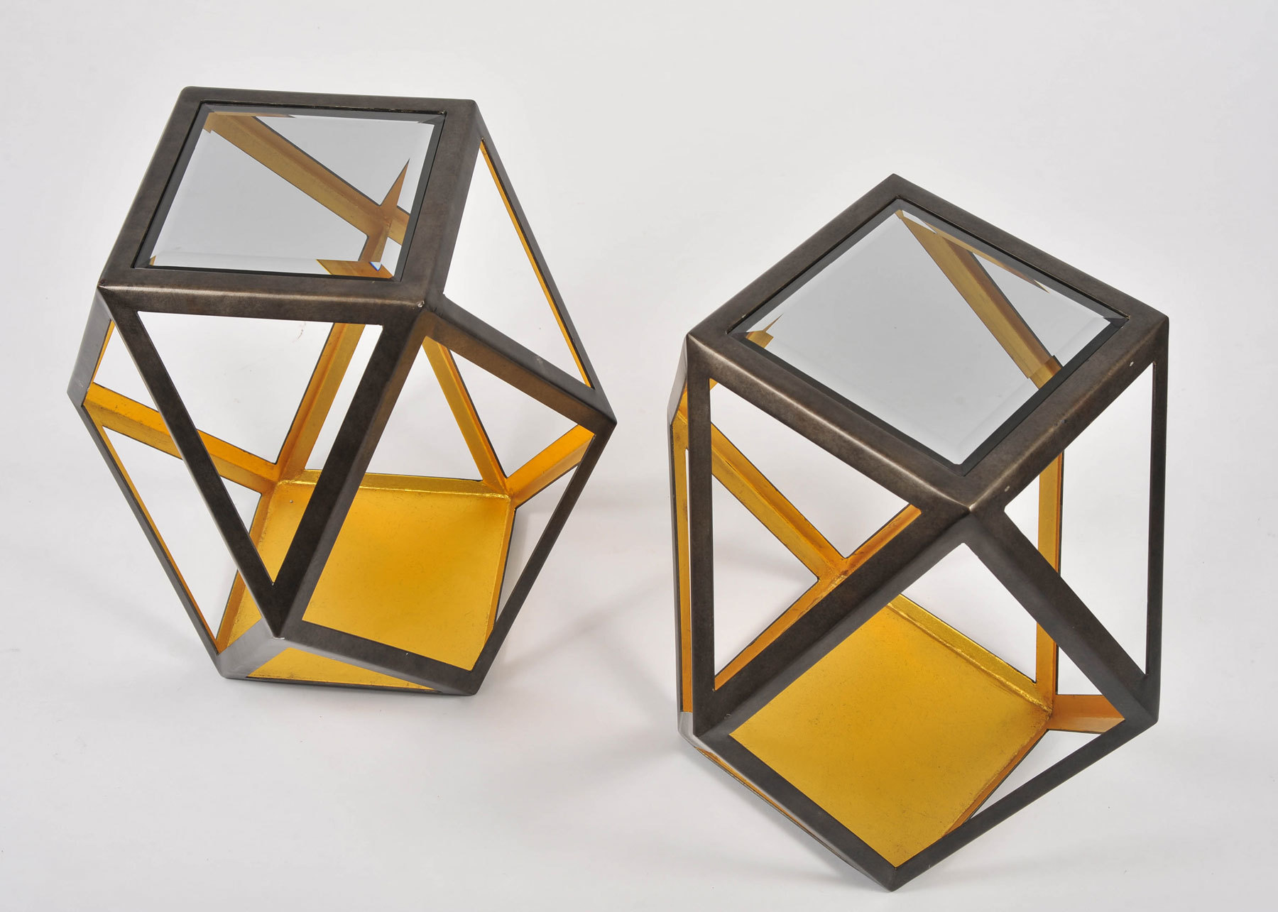 Pair Of Geometric Side Tables 03