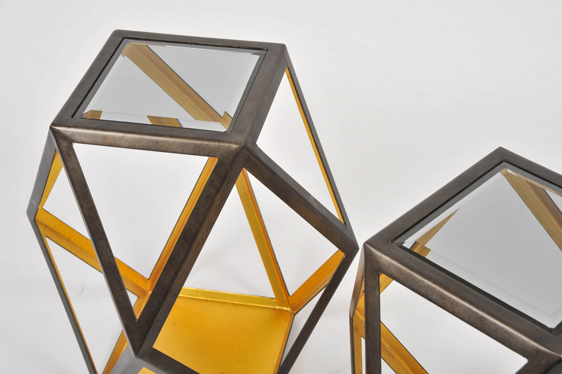 Pair Of Geometric Side Tables 04