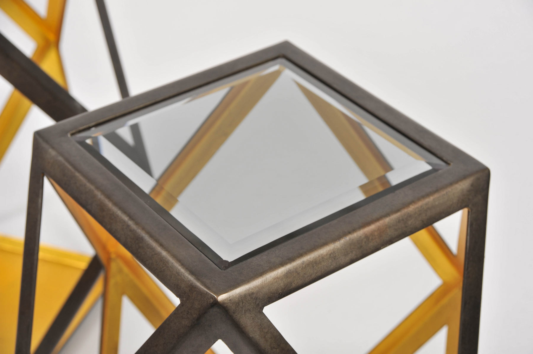 Pair Of Geometric Side Tables 05