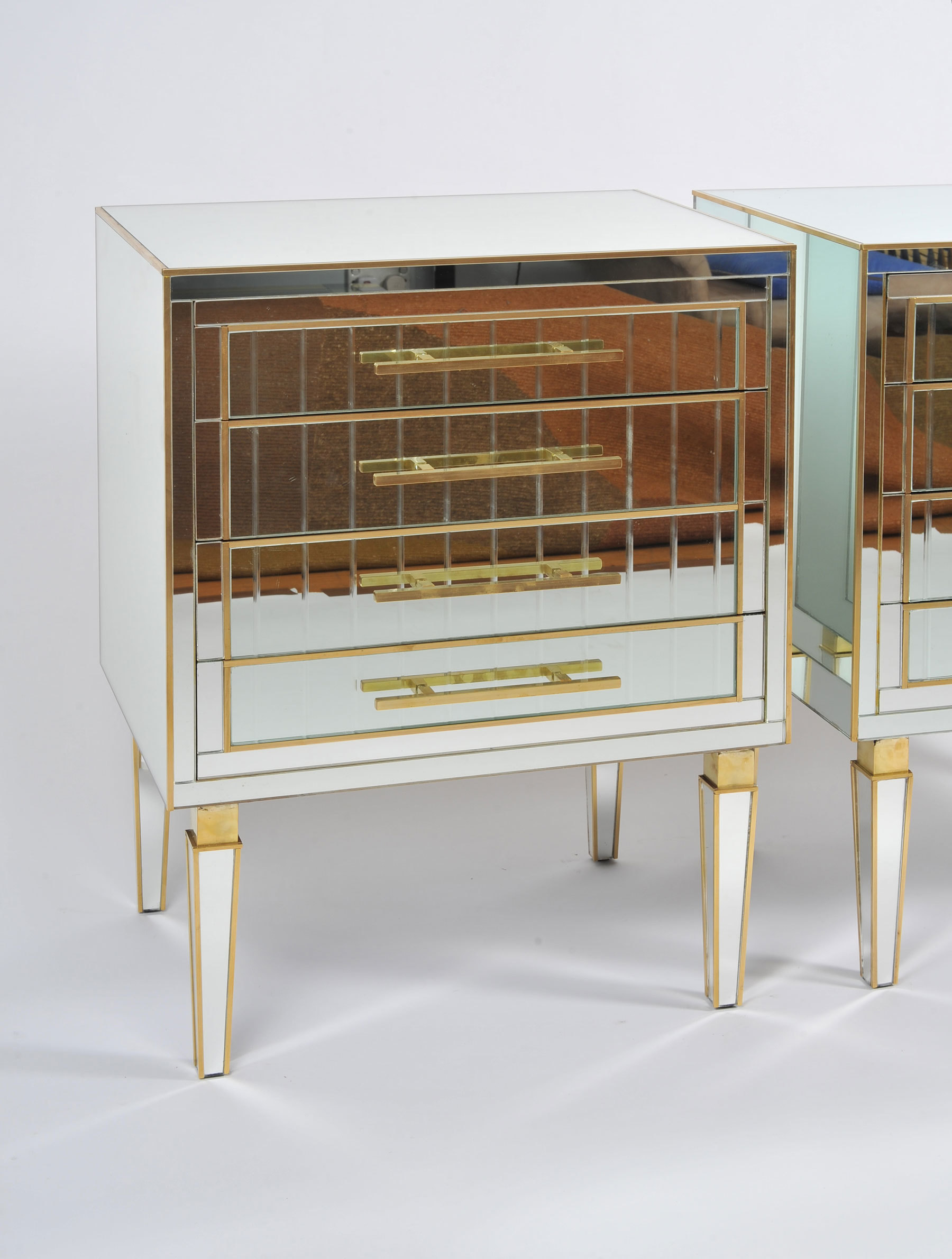 Pair Of Mirrored Chests 03 Vw