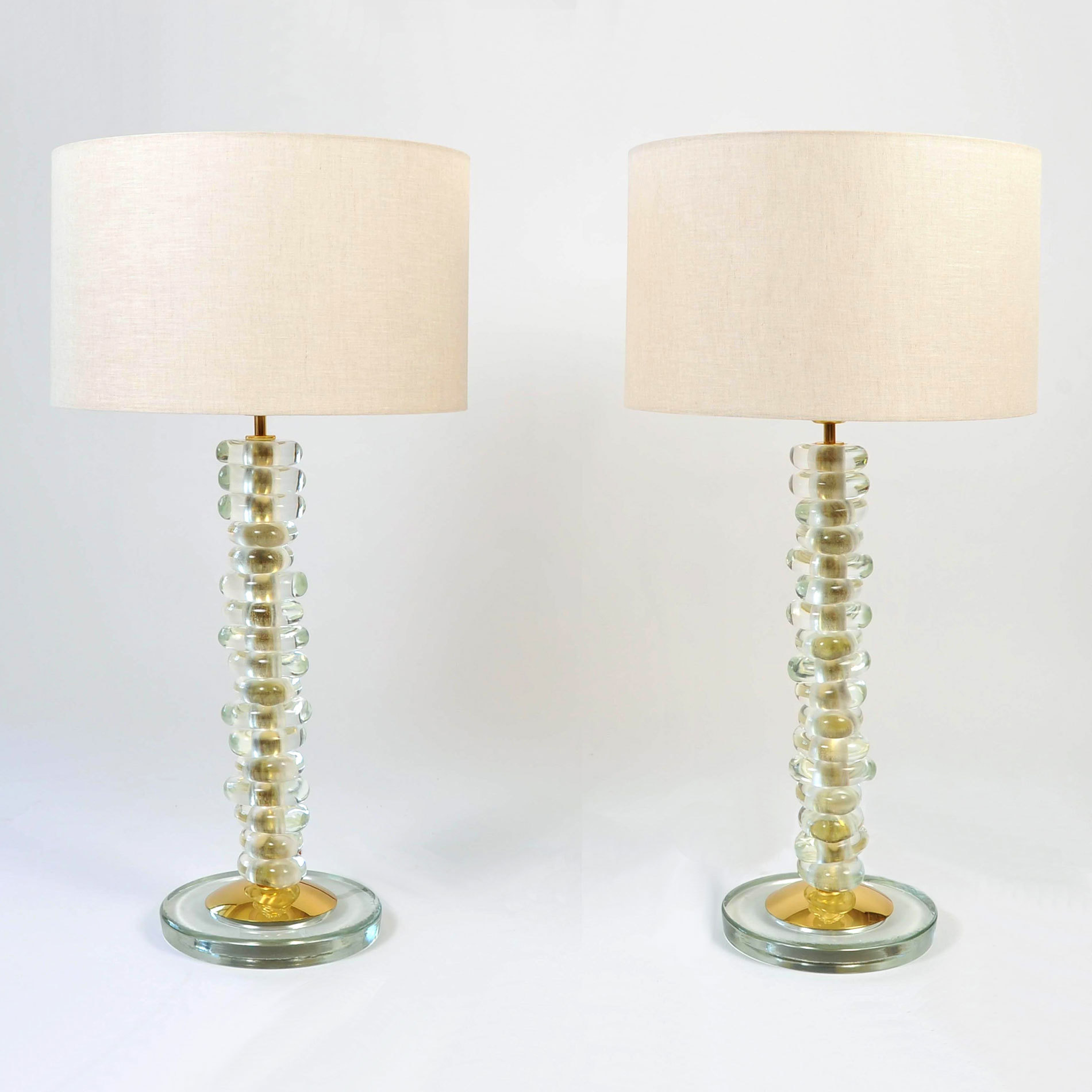 Pair Of Pebble Lamps 01