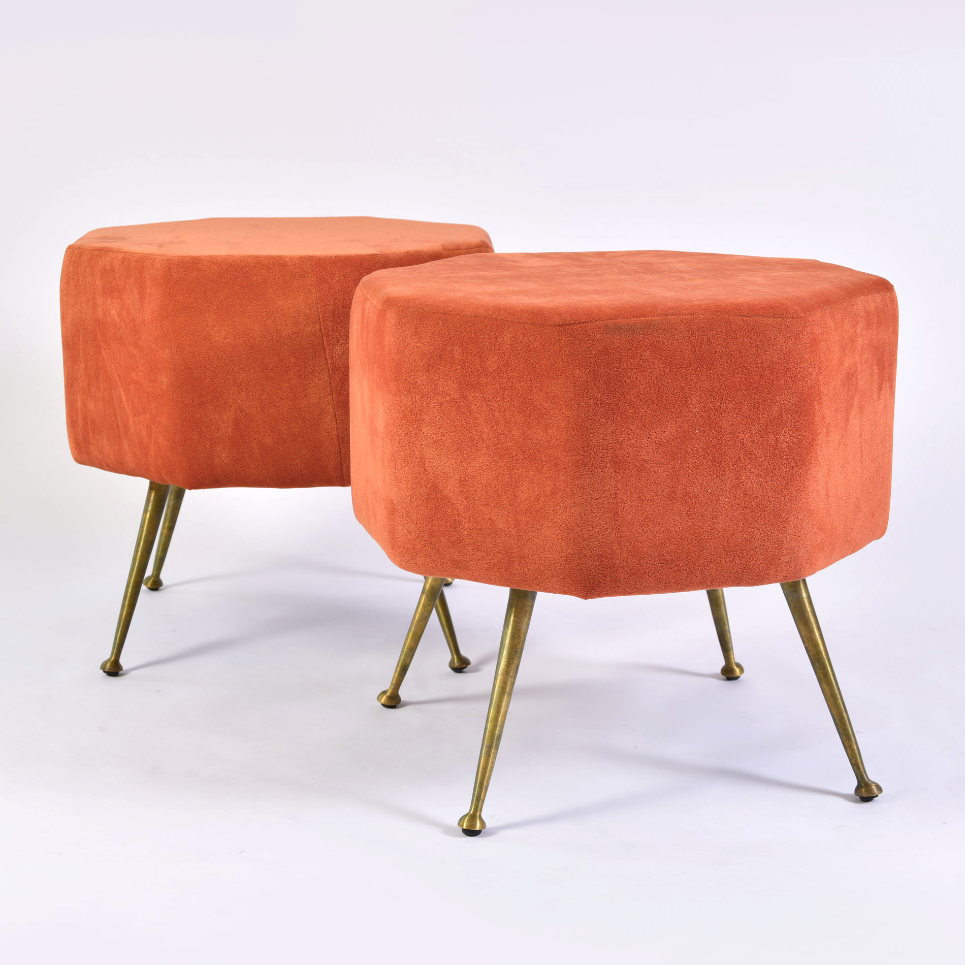 The image for Pair Of Orange Stools 02