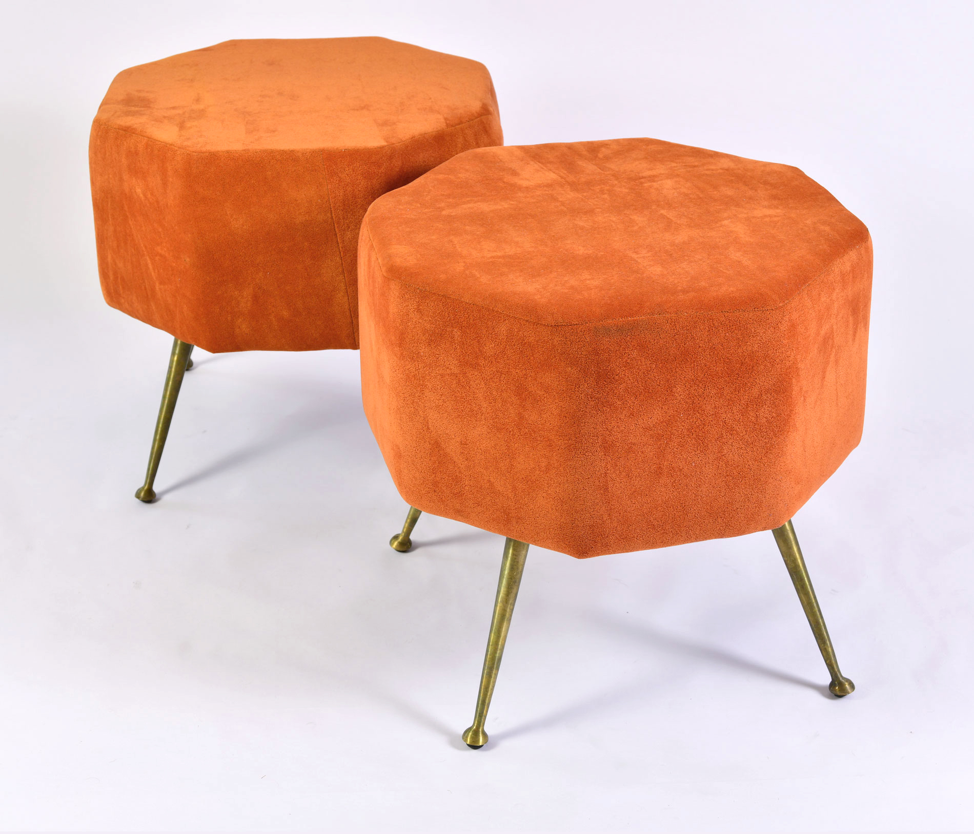 The image for Pair Of Orange Stools 04