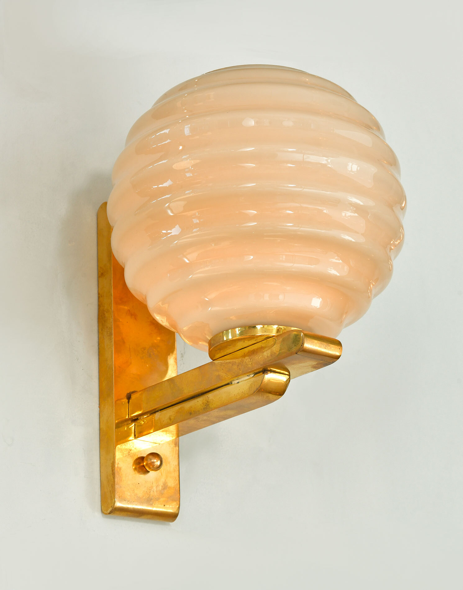 Pair Of Ribbed Globe Wall Lights 03