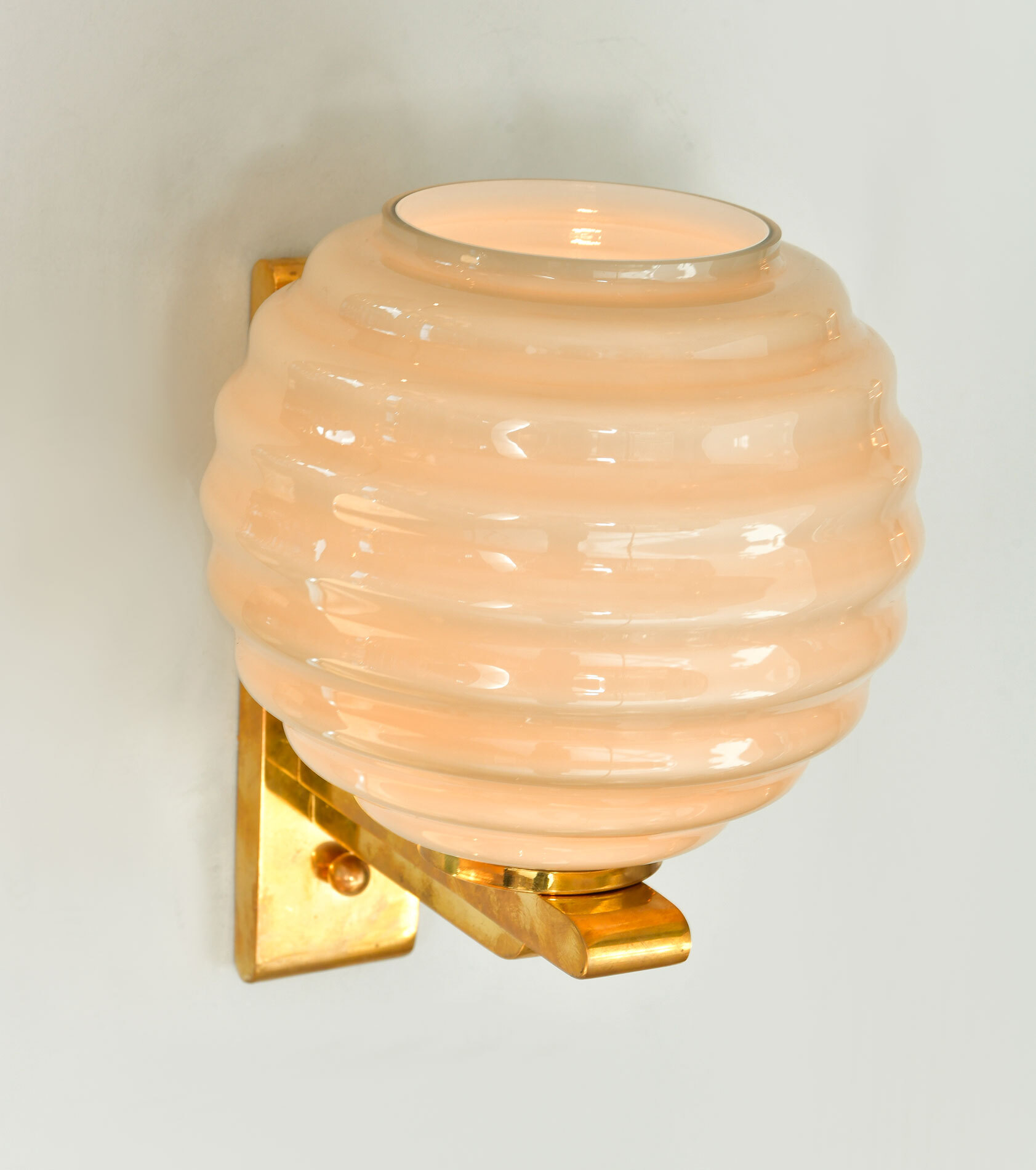 Pair Of Ribbed Globe Wall Lights 04