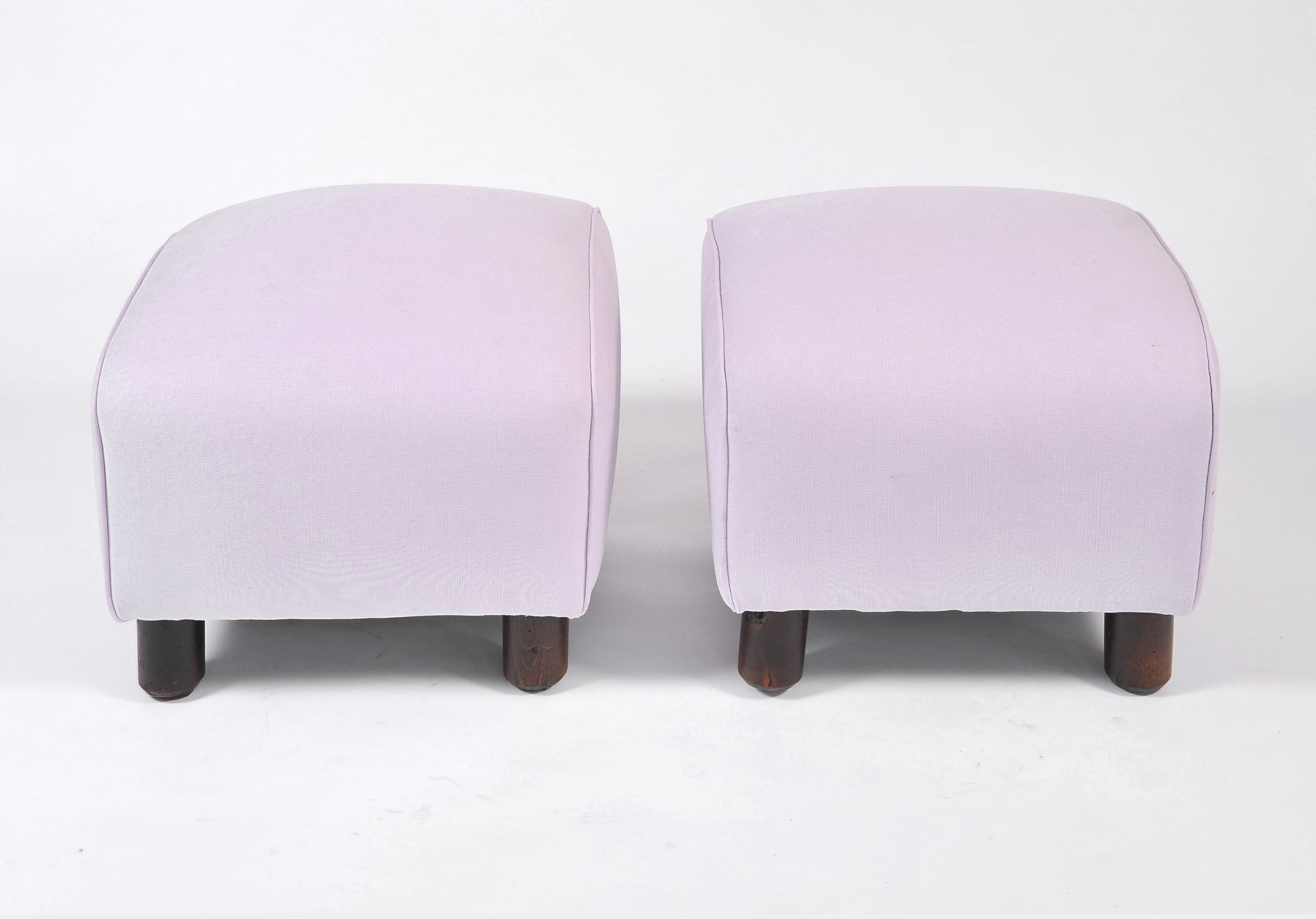 Pair Of Wood Stools In Lilac 02