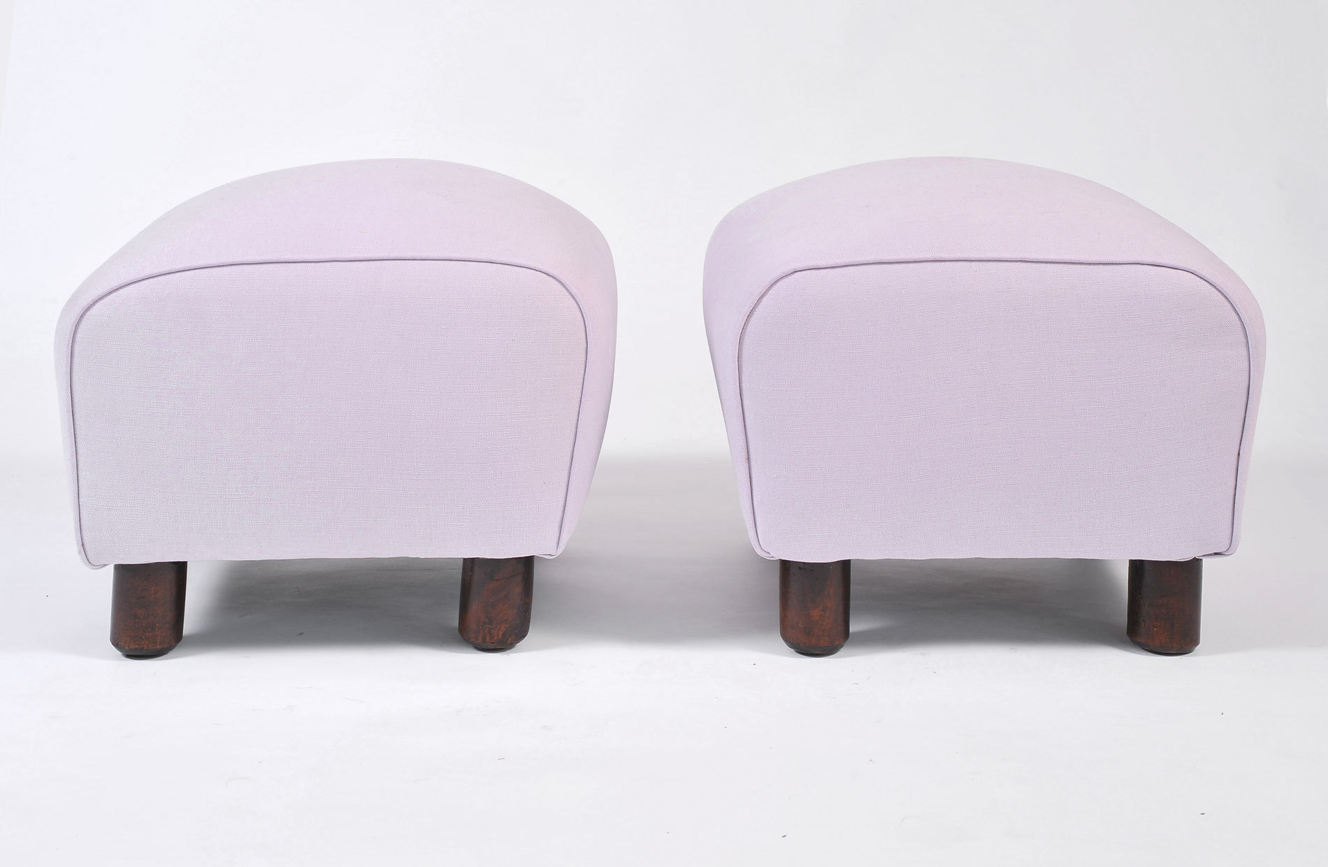 Pair Of Wood Stools In Lilac 03