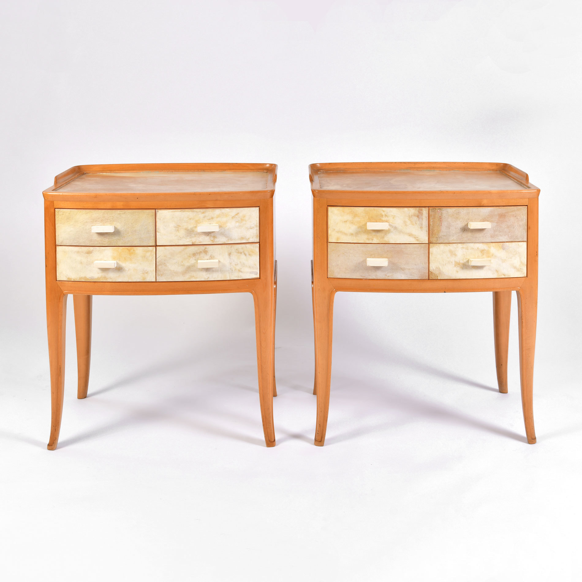 The image for Pair Parchment Bedsides 01