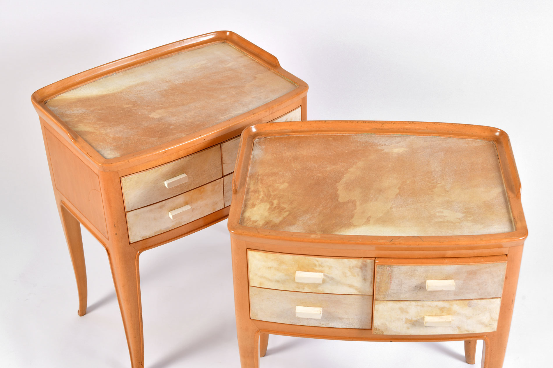 The image for Pair Parchment Bedsides 05