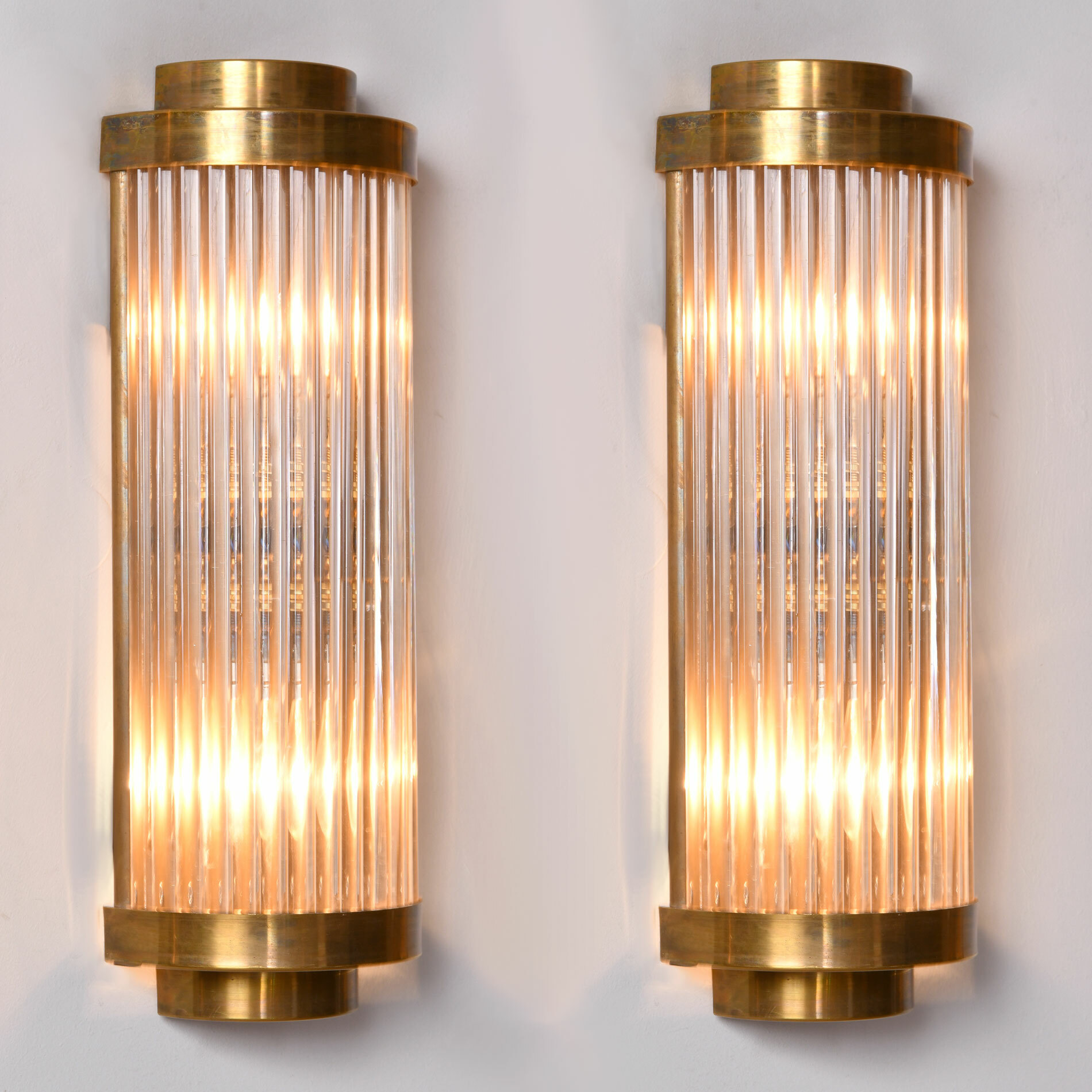 Pair Ravello Wall Lights 2 Tiers 01