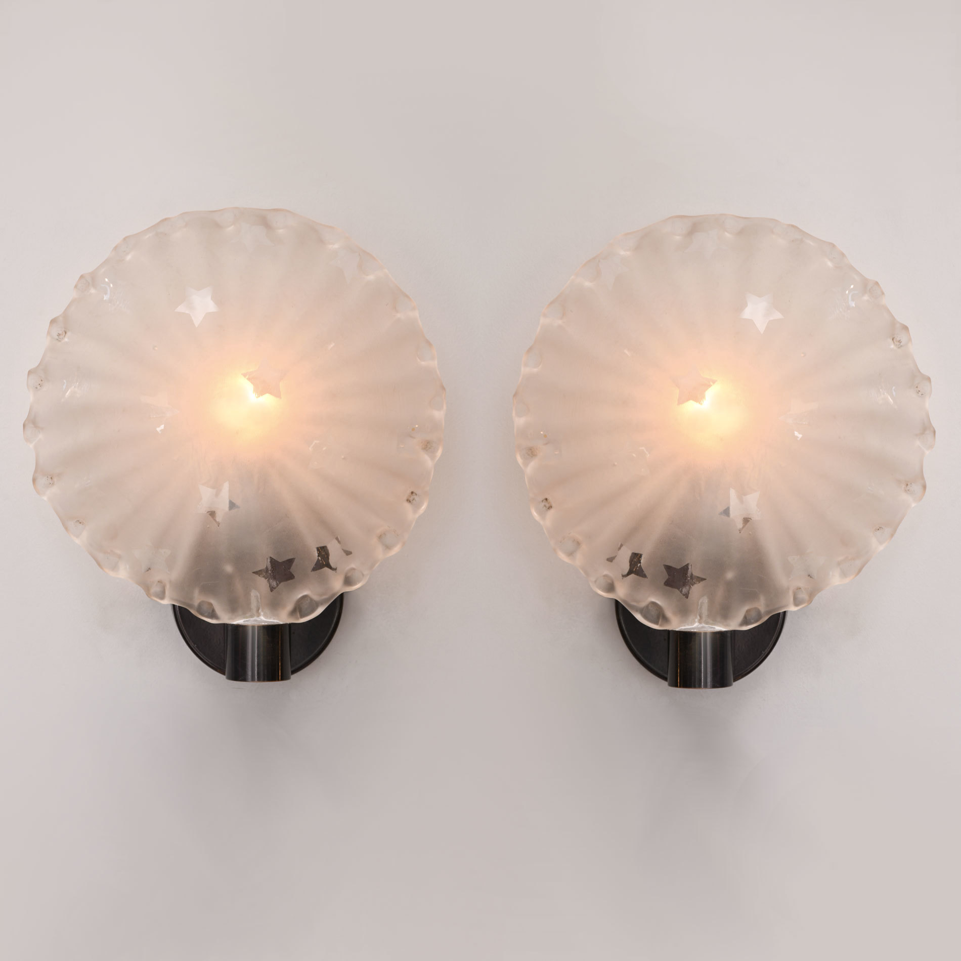 Pair Star Wall Lights 01