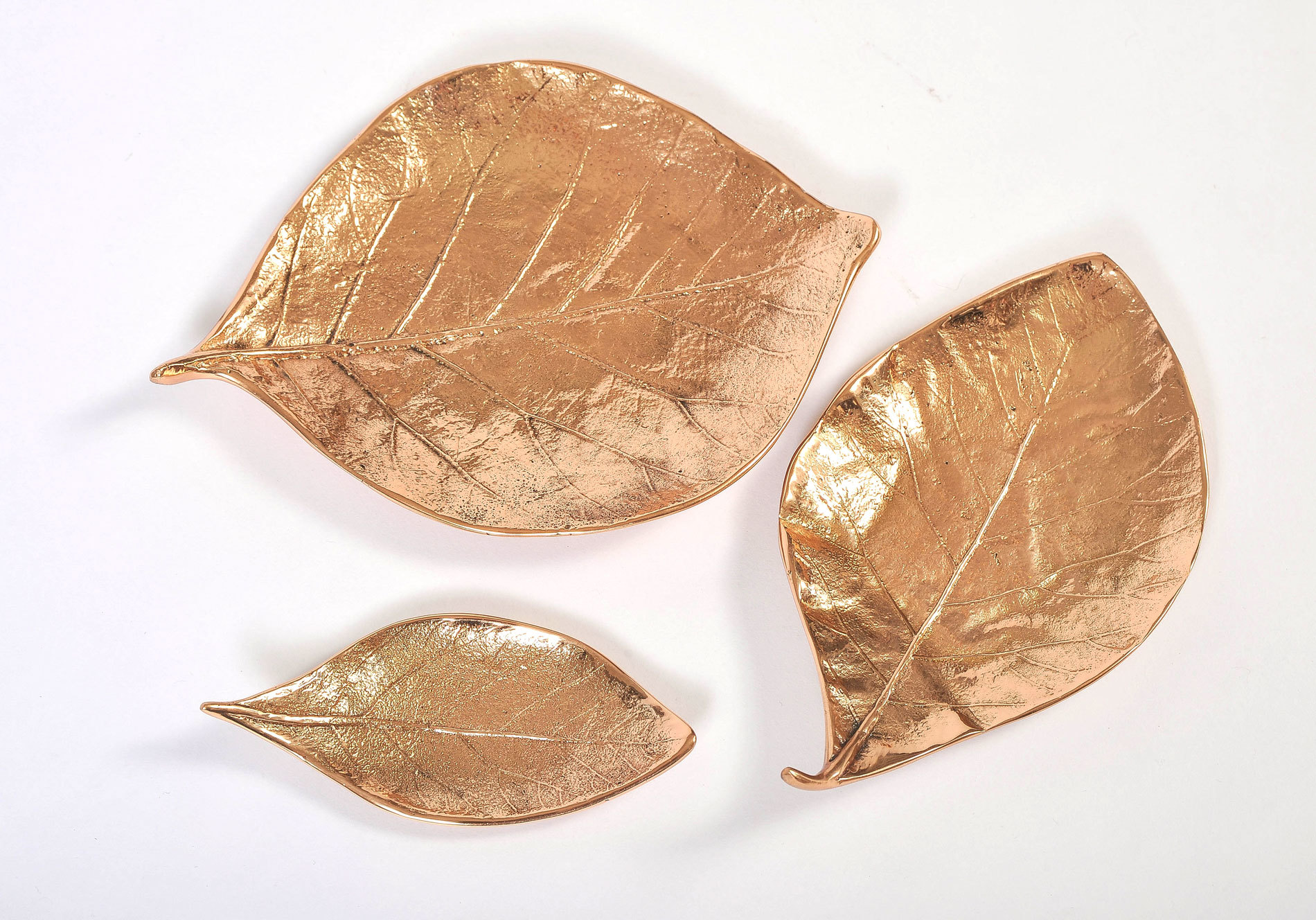 Set Of 3 Leaf Bowls 07
