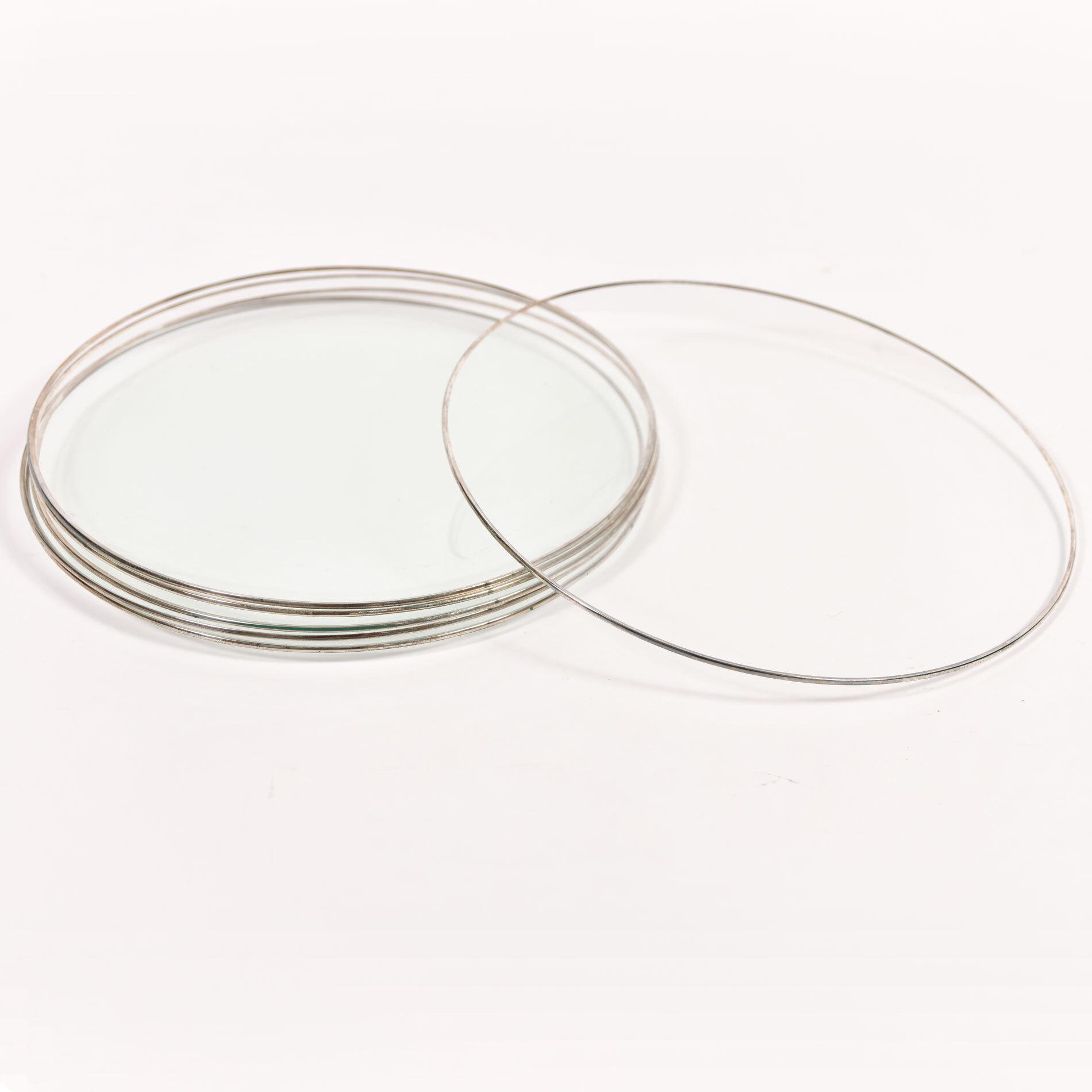 Set Six Glass Plates 01