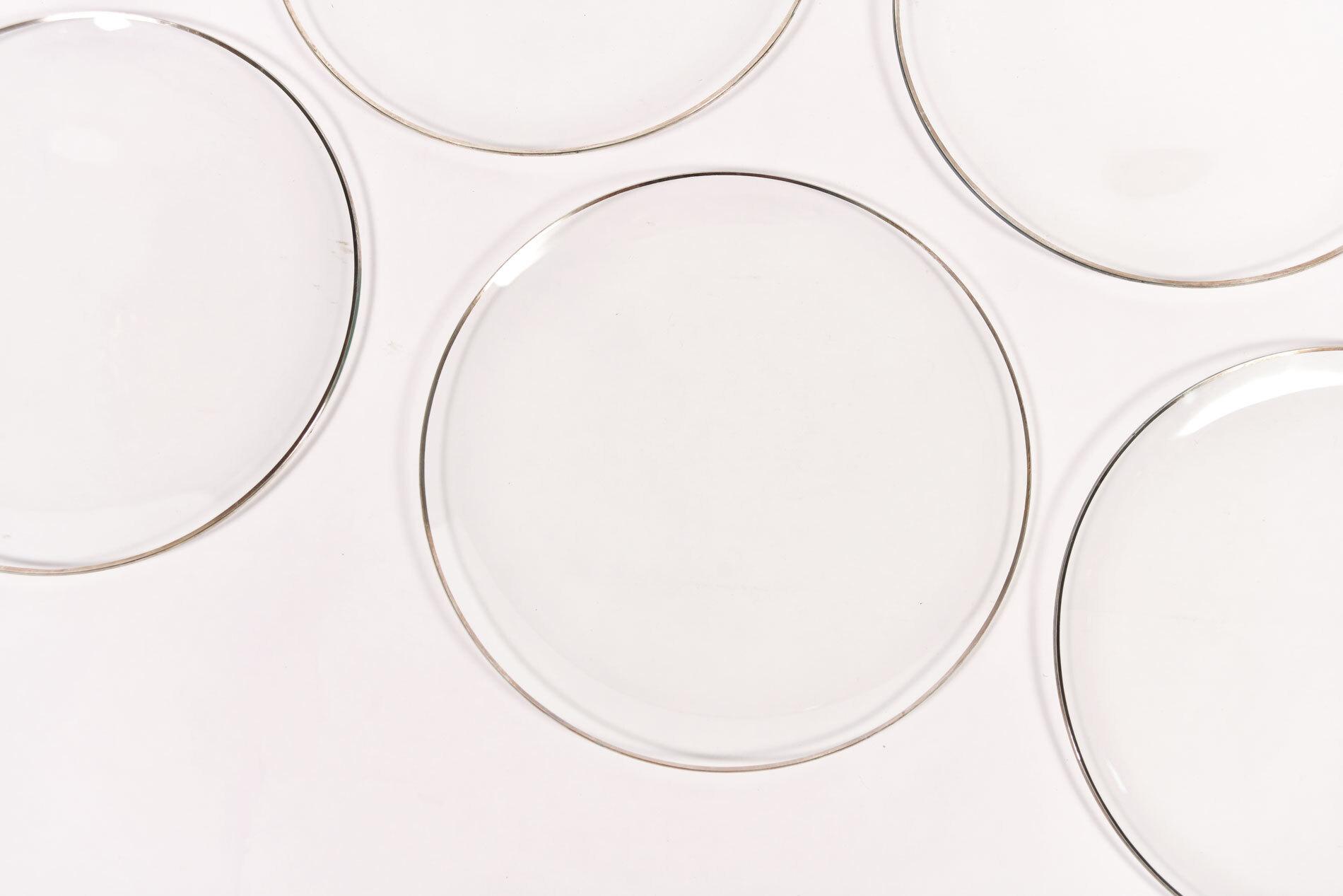 Set Six Glass Plates 04