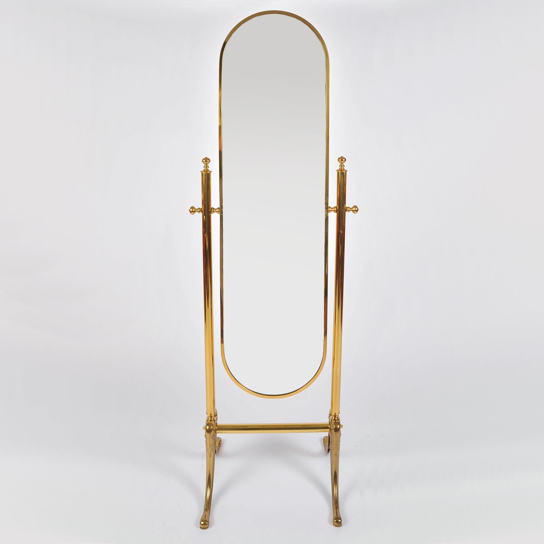The image for Standing Brass Mirror 01