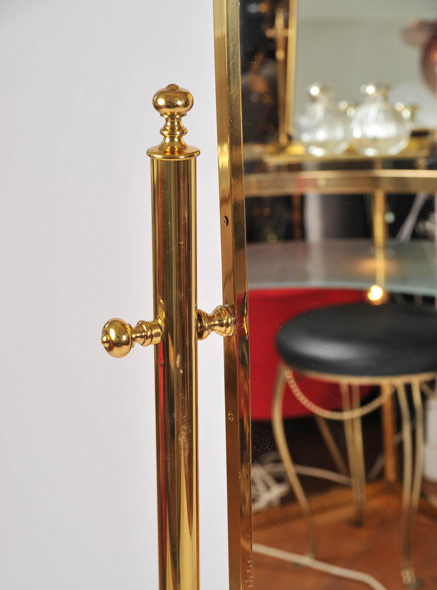 Standing Brass Mirror 04
