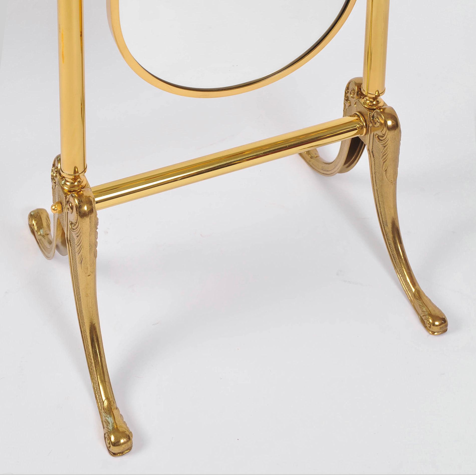 Standing Brass Mirror 06