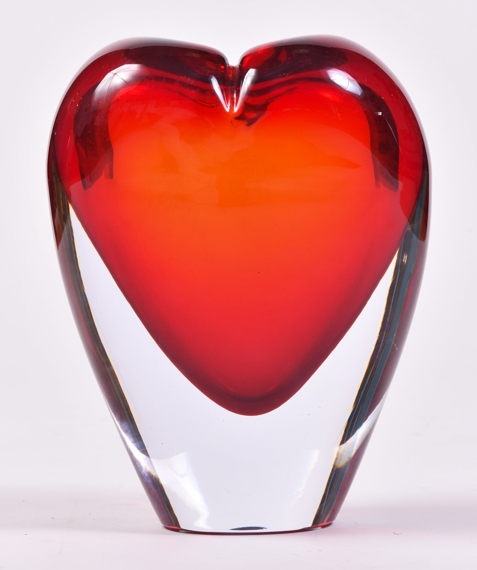 Two Murano Glass Heart Vases 02
