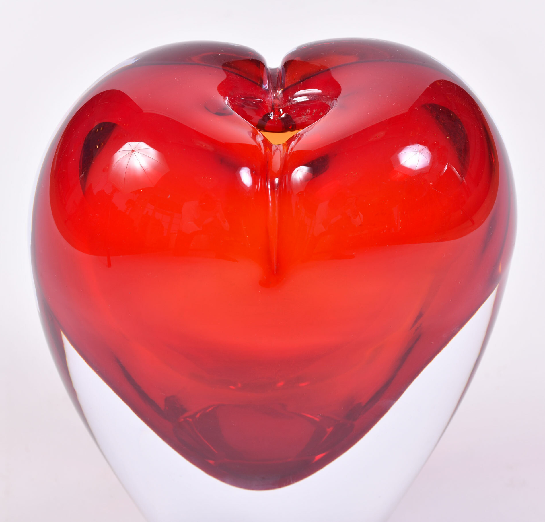 Two Murano Glass Heart Vases 05