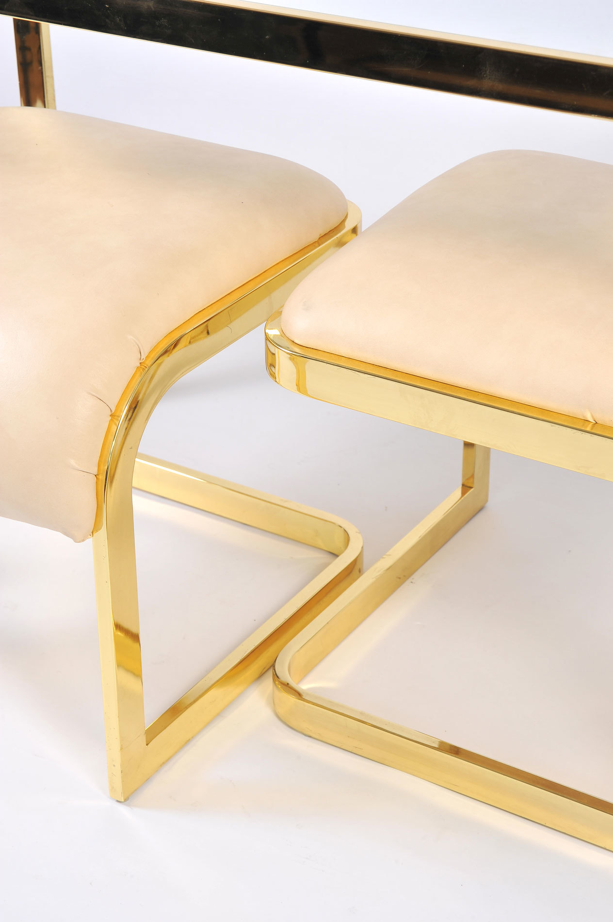 Us Brass Desk And Stools 05